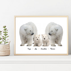"""POSTER MA FAMILLE """"OURS..."""