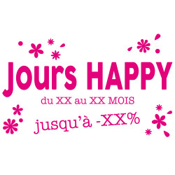STICKER VITRINE JOURS HAPPY...