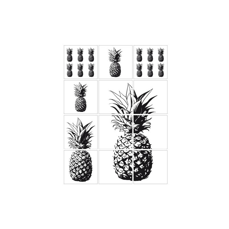 STICKERS CARRELAGES ANANAS (CARR0022)