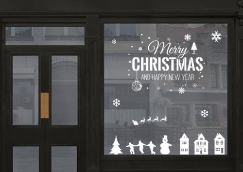 Décoration vitrine festive
