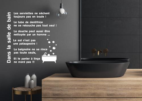 Les règles de la salle de bain