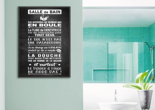 Poster salle de bain