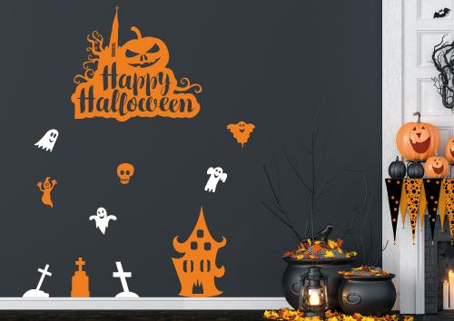 Stickers décoration d'Halloween