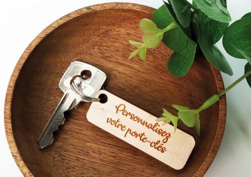 Porte clés en bois personnalisé